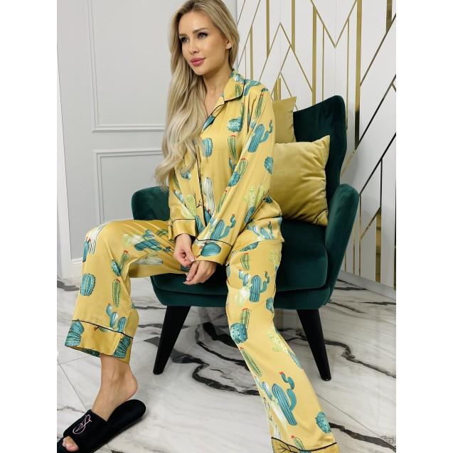 Пижама luxe Кактусы арт.ZC140